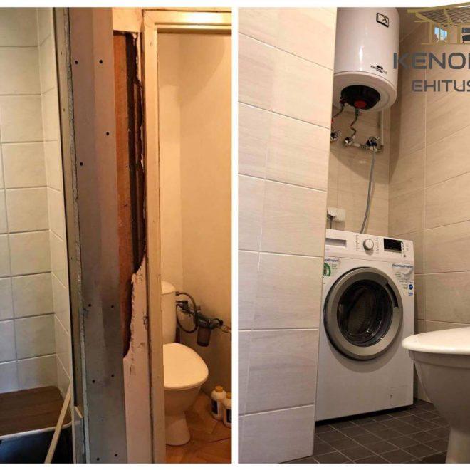Koridori ja vannitoa renoveerimine